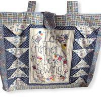 Sew with Beth Rather Be Sewing Tote Bag Blue