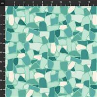 Primavera Tile on Mint Fabric 0.5m