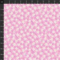 Primavera White Daisies on Pink Fabric 0.5m