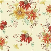 Riley Blake Adel in Autumn Cream Floral Fabric 0.5m