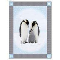 Animal of the Month Penguin Quilt Fabric Panel (140 x 191cm)