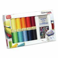 Gütermann Sew-All Thread Set 12x100m & Universal Machine Needles & Pins