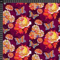 Anna Maria Horner Love Always Purple Flower Bloom Fabric 0.5m