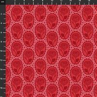 Anna Maria Horner Love Always Red Rose Stamp Fabric 0.5m