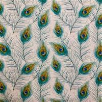 Peacock Feathers Fabric 0.5m