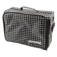 Janome Sewing Machine Carry Bag with Shoulder Strap, Black and Grey