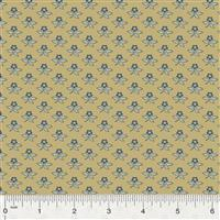 Kingston Bud on Gold Fabric 0.5m