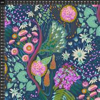 Anna Maria Horner Love Always Peacock Wild Flowers Fabric 0.5m