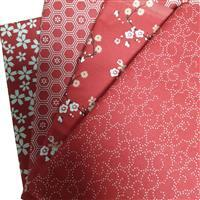 Sew with Beth 4 x 0.5m Fabric Bundles (160cm wide): Red / Ivory