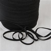 Black Elastic for Mask Making 1m length