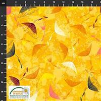 Flowers In The Wind Flowers & Nature Yellow Fabric 0.5m