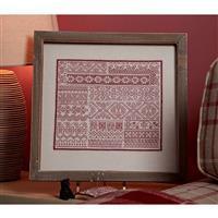Cross Stitch Guild Red Sampler on Linen Kit