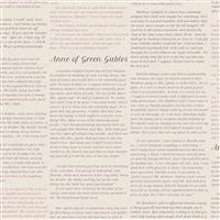Riley Blake Anne of Green Gables Parchment Literature Fabric 0.5m