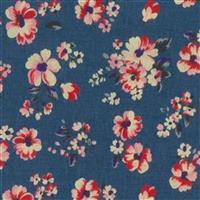 Red Floral Denim Print Fabric Bundle (3m)