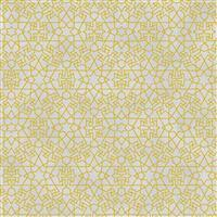Gold Shimmer Grey Geometric Fabric 0.5m