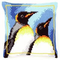 Penguins Needlepoint Cushion Kit