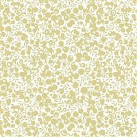 Liberty Wiltshire Shadow Collection Gold Metallic Fabric 0.5m
