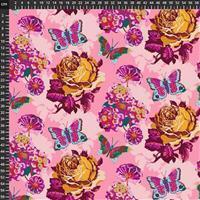 Anna Maria Horner Love Always Pink Flower Bloom Fabric 0.5m