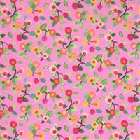 Moda Fanciful Forest in Pink Fruit Fabric 0.5m