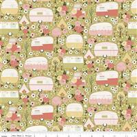 Riley Blake Joy In The Journey Olive Camp Site Fabric 0.5m