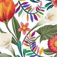 Colorido  Floral White Fabric 0.5m