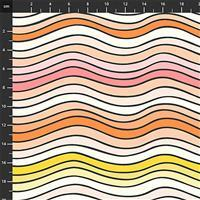 Squeeze Wavy Lines Fabric 0.5m
