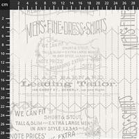 Tim Holtz Monochrome Collection Tailored Linen Fabric 0.5m
