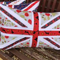 Delphine Brooks Red Poppies Memorial Cushion Kit: Instructions & FQ (6pcs)