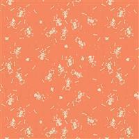 Riley Blake Tiny Treaters Orange Skeleton Fabric 0.5m