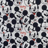 Disney Mickey Mouse Love Fabric 0.5m