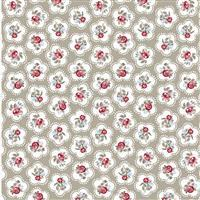 Dainty Flowers Taupe 100% Cotton 0.5m