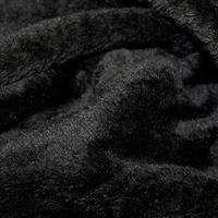 Black Supersoft Fleece Fabric 0.5m