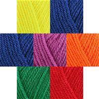 Rainbow Yarn Pack King Cole Dolly Mix DK: 7x25g balls