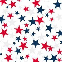 """Red & Blue Star 108"""" Extra Wide Backing Fabric 0.5m"""