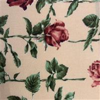 Country Floral Red Rose on Sand Fabric 0.5m Exclusive
