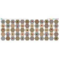 Elf & Santa Hexies Fabric Panel (140 x 58cm)