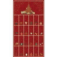 Fold & Stitch Advent Calendar Red Panel 0.6m