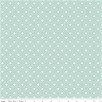 Riley Blake Tea With Bea Sky Square Spotted Fabric 0.5m