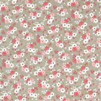 Moda Sanctuary in Ash Daisy Field Fabric 0.5m