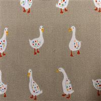 Geese On Fawn Fabric 0.5m - exclusive