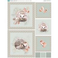 Hedgehog Cushion Fabric Panel (70 x 47cm)