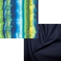 Moda Green & Navy Fabric Bundle (1m)