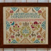 Cross Stitch Guild Token of Love Sampler on Linen Kit