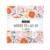 """Moda Words To Live By 5"""" Charm Pack of 42 Pieces"""