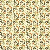 Riley Blake Adel in Autumn Cream Leaves Fabric 0.5m