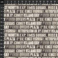 Tim Holtz Monochrome Collection Subway Signs Fabric 0.5m