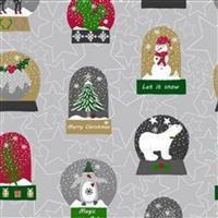 Christmas Snowdome Motif Fabric Bundle (2.5m). Half a Metre Free. Save £5.99.
