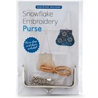 Snowflake Embroidery Purse Kit