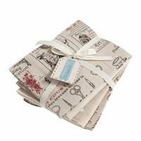 Printed Fat Quarter Naturals Pack of 5