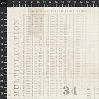 Tim Holtz Monochrome Collection Multiplication Table Fabric 0.5m
